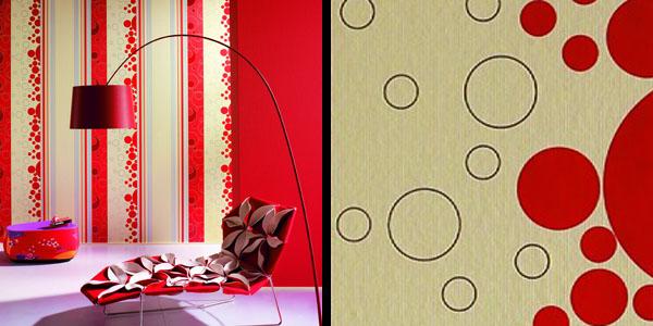 抽象圆形散花纹; 东平德国玛堡壁纸; 德国玛堡
