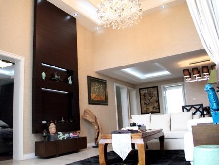 清河上城平层高厅客厅